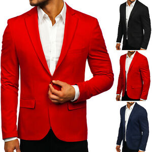 Sakko Anzug Jacke Blazer Sweatjacke Slim Fit Unifarben Herren BOLF 4D4 Classic