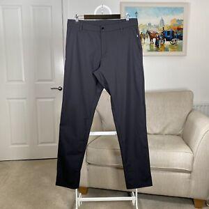 "Mens LULULEMON COMMISSION PANT CLASSIC Smart Casual Trousers Black Size 34"" Long"