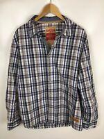 EDC by ESPRIT Vintage Freizeithemd, mehrfarbig kariert, Größe XL, 100% Baumwolle