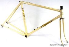 VINTAGE Racing bike Frame Set Rossin lugged Steel Campagnolo dropouts Italy