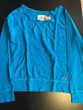 HOLLISTER Long Sleeve T Shirt Blue Woman Small