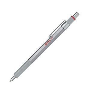 rOtring 600 Ballpoint Pen, Medium Point, Black Ink, Silver Barrel, Refillable