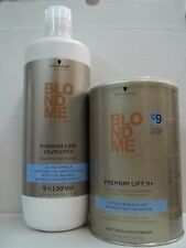 BLONDME PREMIUM LIFT 9+ Bleaching Powder 450 g & 30 VOLUME Developer 33.8 oz~SET