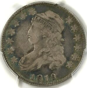 😎❤️😍😱💙PCGS VF20 1819 SMALL 9 CAPPED BUST QUARTER