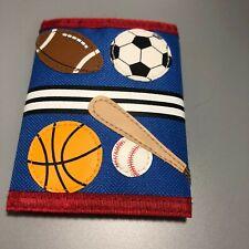 Stephen Joseph Kids Sports Wallet Hook and loop closure Tri fold zip pocket