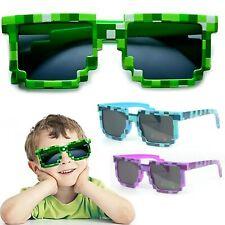 Kids Children Game Gamer Pixel Mosaic Low Resolution Sunglasses UV400 Protection