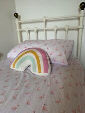 M&S Girls Single Duvet Cover & Pillowcase set     Cute Pink Flamingos