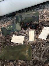 $350 Valentino RockStud Camo Sunglasses