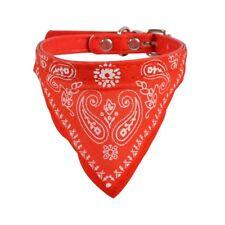 Collier Bandana tissus Rouge pour Petit Chien réglable de 22 à 30 cm
