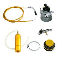 Yellow Carburetor&Air Filter&Power Boost Bottle For 49/60/66/80cc Motorized Bike