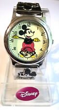 Replica~First Mickey Mouse Watch From 1933~Mickey Silver Link Band~Bradford Exc.
