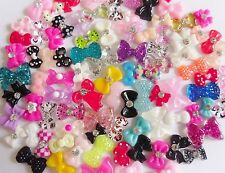 "20pc x 3D Nail Art ""Bows"" Rhinestone Accessories Mix Decoration Craft Tips Nails"