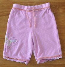 MONSOON Girls Pink Polkadot Butterfly Soft Cotton Trousers Size 0-3 Months ExCon