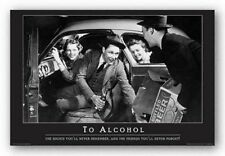 DRINKING POSTER To Alcohol The Nights You'll Never Remember