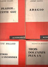 LOT de 21 LIVRES des EDITIONS DU SCORPION COLLECTION ALTERNANCE 1958-1960 SIGNES