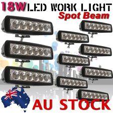"10X 6""  Slim 18W Spot LED Work Light Bar Off Road Boat JEEP Driving Lamp AU SHIP"