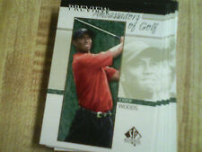 2001 Upper Deck SP Authentic Preview Ambassadors of Golf You Pick Lot