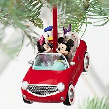 2011 Disney Store ROAD TRIP Mickey Minnie Donald Daisy Christmas Ornament NEW