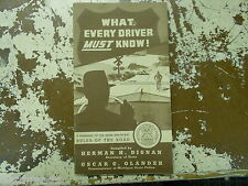 THE RULES OF THE ROAD - Michigan Driving Laws - 1943 - HANDBOOK