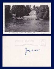 CANADA ONTARIO TRAIL'S END LODGE PIDGEON LAKE BOBCAYGEON PARKS REAL PHOTO 1955