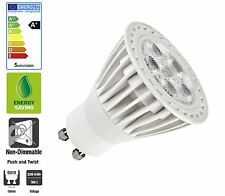 Allcam 5W GU10 LED Bulbs Downlights Energy Saving 50mm Height, Warm White, New