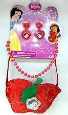 Disney Princess SNOW WHITE Poison Apple Purse + Earrings & Beaded Necklace NEW