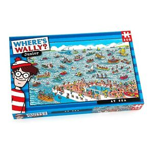 Where's Wally AT SEA Junior Jigsaw Puzzle 250 pieces Find Wally Seaside Puzzle