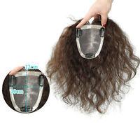 Mono base 100% Human Hair Topper toupee topper Hairpiece Top Piece For Women