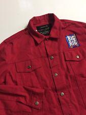 Disney Big Rig By Jenny Leigh Red Denim Trucker Jacket Men's Unisex XL (2XL)