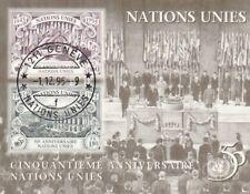N49 bloc ONU Genève-Nations Unies 1995 50th Anniversaire obliteration GENEVE