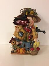 "Used Scarecrow Hanging Home Decor Metal Indoor/Outdoor 6"" L x 3"" W x 10"" H"
