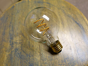 LOT: 4x LED Edison Bulb G25, Curved Vintage Style Spiral Filament, 4watt (40w)