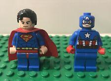 LEGO SUPERHEROES MINIFIG LOT - CAPTAIN AMERICA and SUPERMAN minifigures