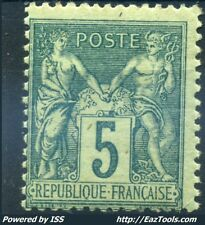 FRANCE TYPE SAGE N° 75 NEUF * AVEC CHARNIERE A VOIR