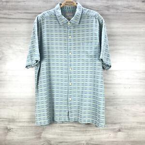 Tommy Bahama Men's Silk Blend Hawaiian Camp Button Down Shirt Size 2XL XXL