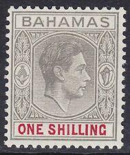 BAHAMAS SG155d 1/- PALE BROWNISH GREY & CRIMSON LIGHTLY MOUNTED MINT