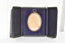 BEAUTIFUL ANTIQUE LEATHER  FOLDING PICTURE FRAME CASE & EASEL STAND