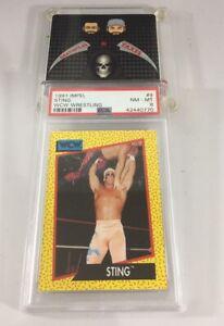 Sting 1991 Impel Wcw Wrestling #9 Psa 8 Pop 8