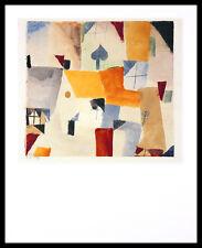 Paul Klee Fenster Poster Bild Kunstdruck mit Alu Rahmen in schwarz 50x40cm