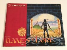 """Times of Lore """"NES-5T-USA"""" - Nintendo,Nes - Instruction,Manual ONLY"""