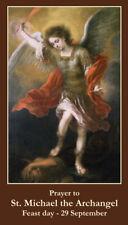 St. Michael (Patron Saint of the military & law enforcement) prayer card, 3-pack