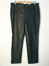 CHICO'S  The Ultimate Fit Regular Faux Leather Black Pants Size 3  Women's XL