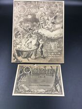 1914 Krewe of Olympians Invitation & Admit Card New Orleans Mardi Gras Comus