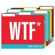Knock Knock File Folders, Lot of 2 Sets of 6, Honest Acronyms 12 Folders Total