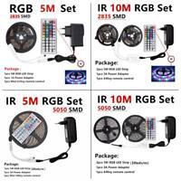 RGB LED Strip Light 5050 SMD 2835 Flexible Ribbon fita light strip 5m 10m kit