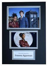 Freema Agyeman Signed Autograph A4 photo display Doctor Who TV AFTAL COA