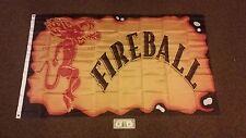 Large 3' x 5' NEW never opened Fireball Whisky Whiskey Flag - Banner - Backdrop