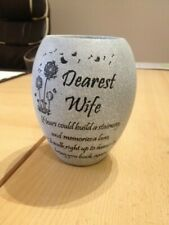 Wife - Grey Memorial Grave Vase - Graveside Memorial