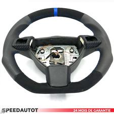 Aplati Alcantara Cuir Multi. Volant Cuir Opel Astra H Bleu