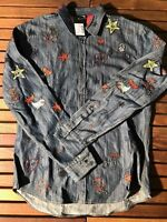 Dsquared2 Navy Patches Shirt Size XL (52) New